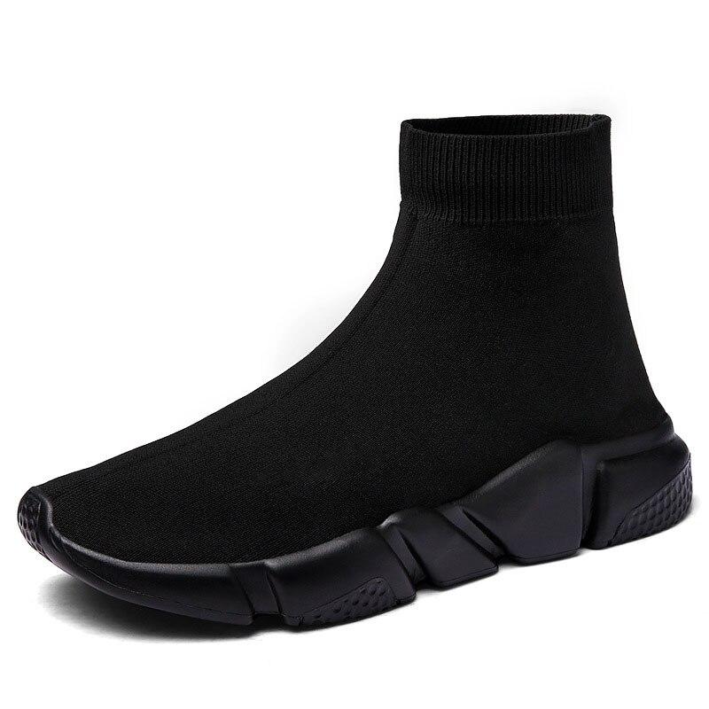 Nuevos calcetines voladores transpirables de alta calidad para hombre y mujer, zapatillas deportivas de deporte elásticas, zapatillas de correr planas para hombre, zapatillas de deporte