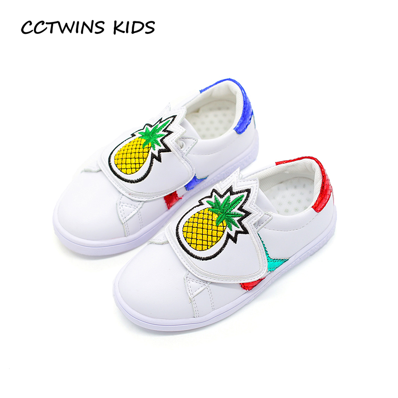 CCTWINS KIDS 2017 Child Boy White Trainer Kid Sport Baby Girl Pu Leather Breathable Sneaker Toddler Fashion Glitter Shoe F1591 teva jansen leather kids sport shoe toddler little kid big kid