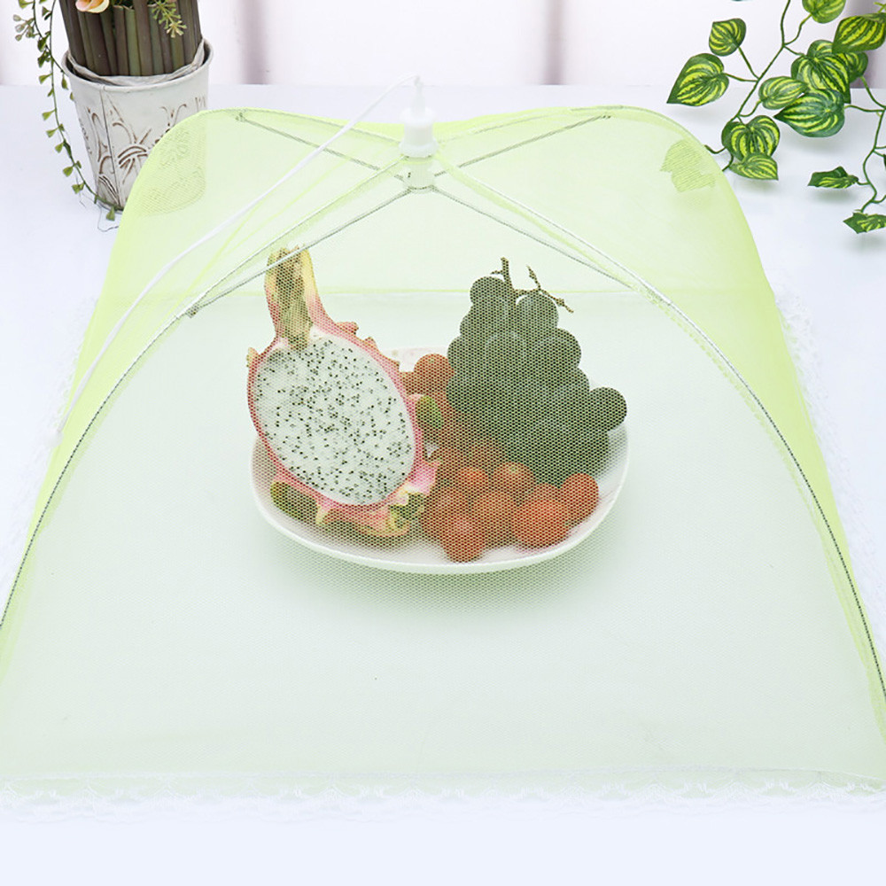 Patio Umbrella Flying Away: Household Food Cover Anti Mosquito Fly Resistant Lace Net