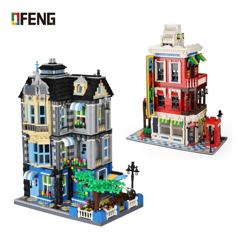 Wange World Architecture Building Bricks Creator series the garden coffee house for children Educational toys Brinquedos Gift