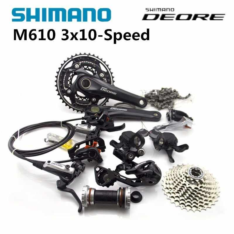 9b8f15488a6 SHIMANO DEORE M610 3x10S 30 Speed Groupset With M615 Hydraulic Disc Brake  MTB Mountain Bike Derailleurs