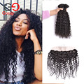 Water Wave Virgin Hair With Closure Malaysian Curly Hair With Closure 13x4 Lace Frontal With Bundles Unprocessed Human Hair