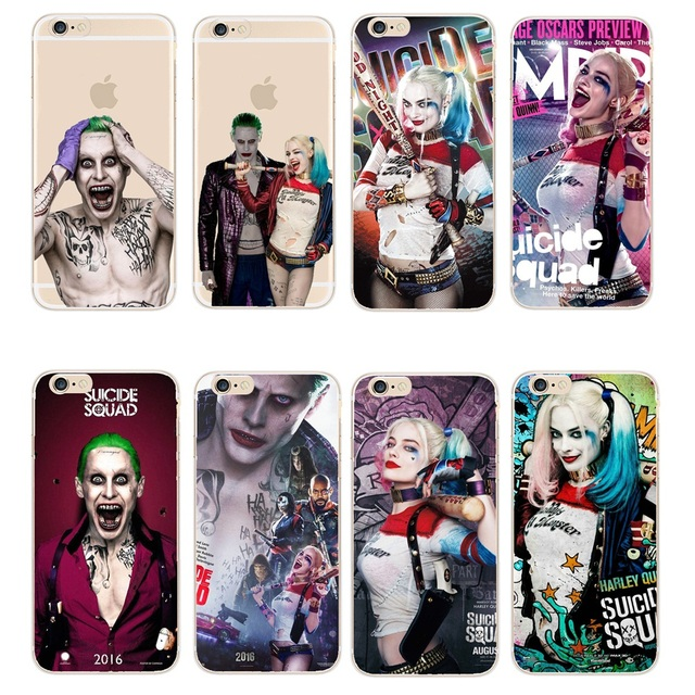 info for 5f537 0908c US $1.03 30% OFF|Phone Cover Margot Robbie Harley Quinn Suicide Squad DC  Comics Transparent Case For iPhone 8 X 5 5S 5C 6 6S 7 Plus SE Fundas-in ...