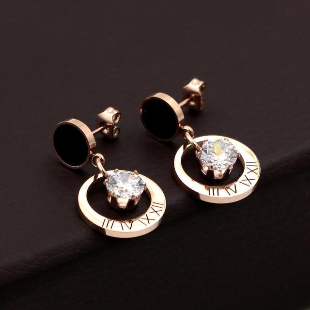Купить модные ювелирные изделия черные круглые подвесные циркониевые