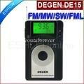 DEGEN DE15 FM Stereo MW SW FML LCD Radio World Band Receiver Alarm Quarz Clock