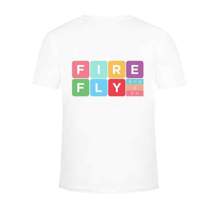 Nieuwe collectie gfriend SinB Eun Ha dezelfde liefhebbers unisex o hals korte mouw t-shirt voor zomer unisex mode losse kpop t-shirt
