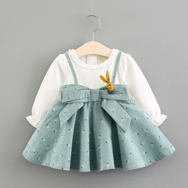 bf8a54496 baby girl dress cotton casual long sleeve princess sping autumn ...