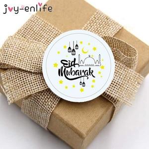 Image 3 - 60/100pcs Eid Mubarak Decoration Paper Sticker Lable Seal Gift Sticker Islamic Muslim Mubarak Decoration Eid Al Adha Supplies