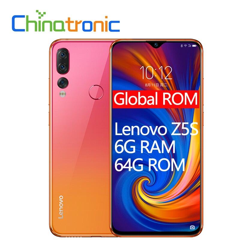 "Original Lenovo Z5S L78071 6G 64G ZUI 6.3""QHD 2340X1080 Mobile Phone Snapdragon SDM710 Octa-core Triple Rear Camera Face ID"