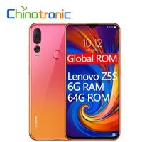 Global ROM Lenovo Z5S L78071 6G 64G ZUI 6.3″QHD 2340X1080 Mobile Phone Snapdragon SDM710 Octa-core Triple Rear Camera Face ID Lenovo Phones