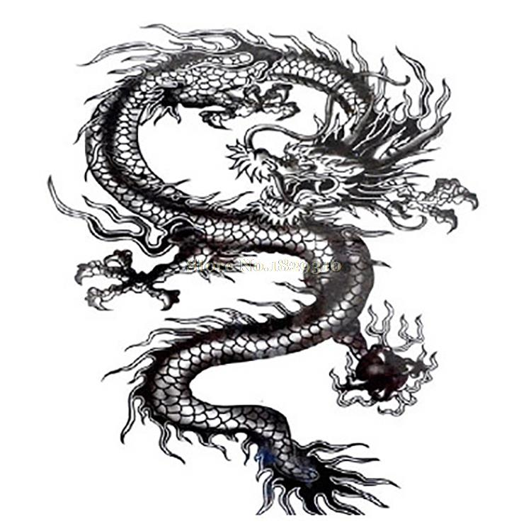 Stiker Tato Tahan Air Besar Naga Hitam Sementara Tato Naga Totem Pada Kembali Dada Untuk Pria Palsu Tato Mqc04 Tattoo Sticker Temporary Dragon Tattooblack Dragon Tattoos Aliexpress