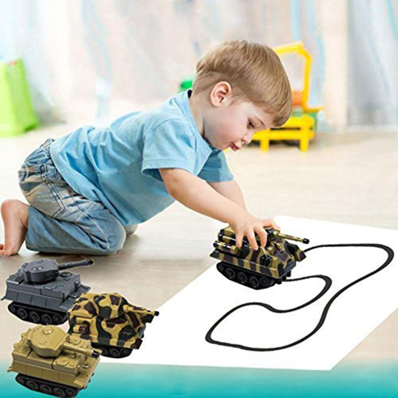 DIY Plastic Inductive Car Toy Automatic Follow-Line You Draw Tank Kids Gifts Electric Car Model for Boys Children Birthday Gift