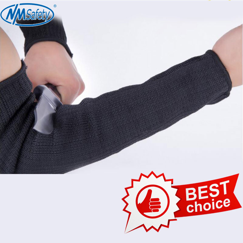 NMSAFETY men gloves top cutting outdoor self defense arm guard top quality knife glove cut resistant protective safety glove image
