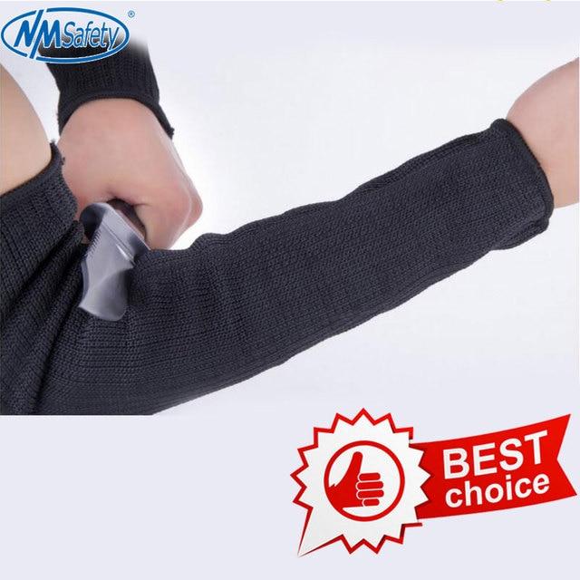 NMSAFETY الرجال قفازات أعلى قطع في الهواء الطلق الذاتي الدفاع واقي للذراع أعلى جودة سكين قفاز قطع مقاومة واقية قفاز الحماية