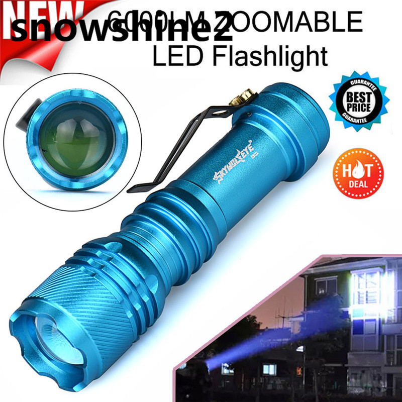 snowshine2#3522 Bicycle Bike Front Head light 6000LM CREE Q5 AA/14500 3 Modes ZOOMABLE LED Flashlight Torch Super Bright