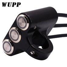 WUPP универсальные переключатели на руль мотоцикла, противотуманный светильник с креплением, клаксон, выключатель питания, алюминиевый с индикатором для Yamaha