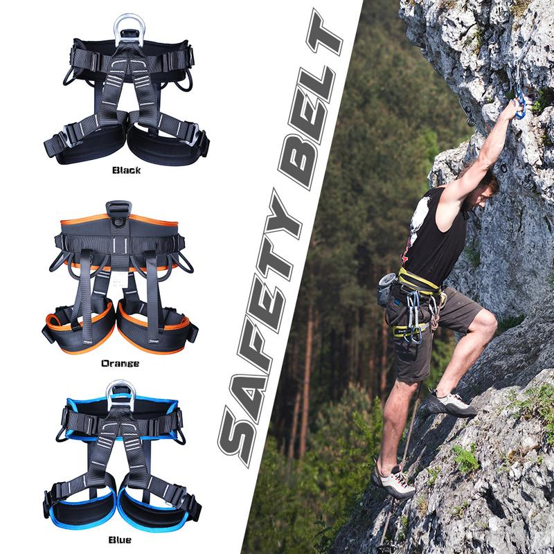 Camping Outdoor Hiking Rock Climbing Half Body Waist Support Safety Belt Harness Aerial Equipment Mountaineering Rock