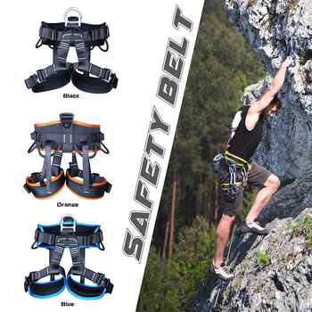 Camping Outdoor Hiking Rock Climbing Half Body Waist Support Safety Belt Harness Aerial Equipment Mountaineering Rock Climbing - DISCOUNT ITEM  9% OFF Sports & Entertainment