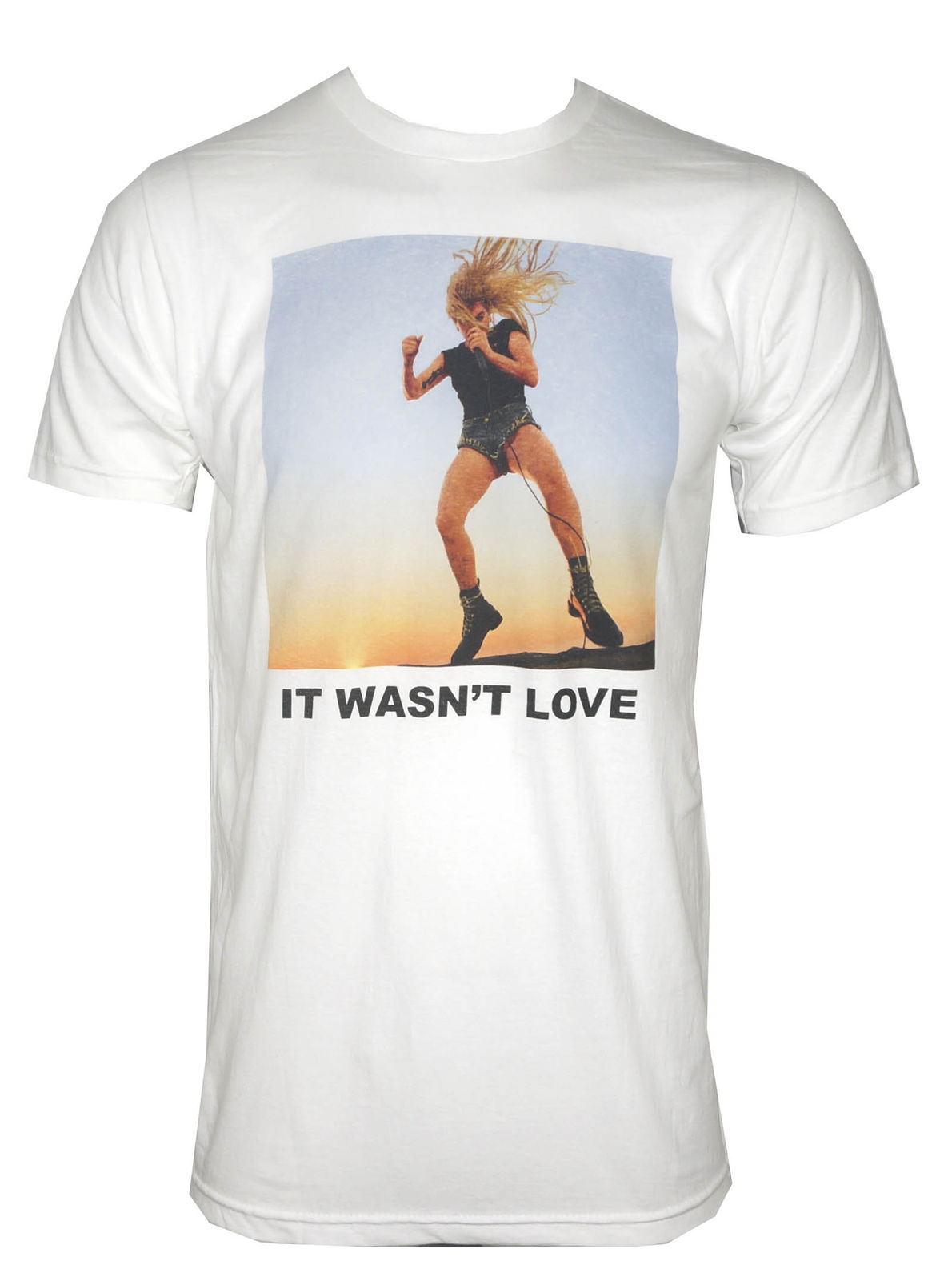 Authentic LADY GAGA It Wasnt Love White T-Shirt S-XL NEW
