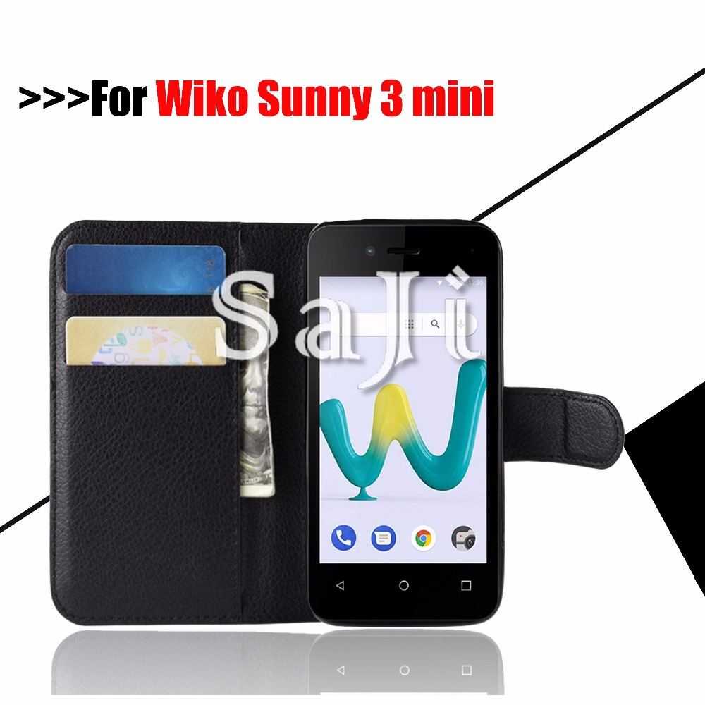 For ( Wiko Sunny 3 ) Case Luxury PU Leather Wallet Flip Coque Cover