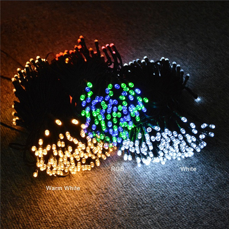 Image 4 - Led Solar String Light Outdoor Waterproof Led Solar Powered Lamp Fairy Lights 7M 12M 22M 32M Holiday Garden Christmas Decoration-in LED String from Lights & Lighting on