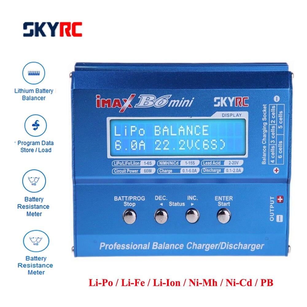 Original SKYRC IMAX B6 mini 60 W Balance cargador descargador para RC helicóptero nimh nicd aviones inteligente de la carga de la batería