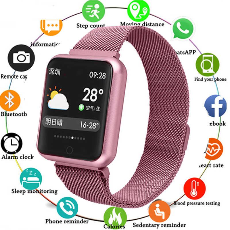 New Fashion Men Smartwatch Message Reminder Smart Watches Waterproof Smart Watch Heart Rate Tracker Sport Watches For Women
