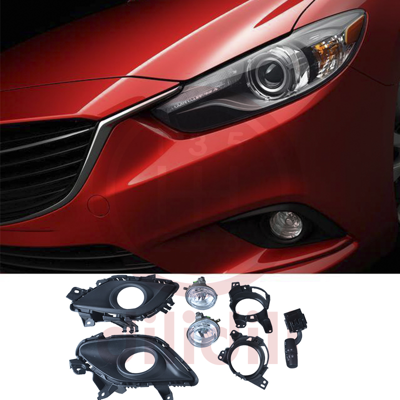 Fog Lights Halogen Lamp Kit for  Mazda 6 mazda6 2014-2015 without auto Fog Lights Halogen Lamp Kit for  Mazda 6 mazda6 2014-2015 without auto