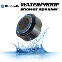 Baño de radio mini altavoz impermeable altavoz bluetooth wireless ducha baño portátil de altavoces estéreo de manos libres de llamadas ip67(China (Mainland))