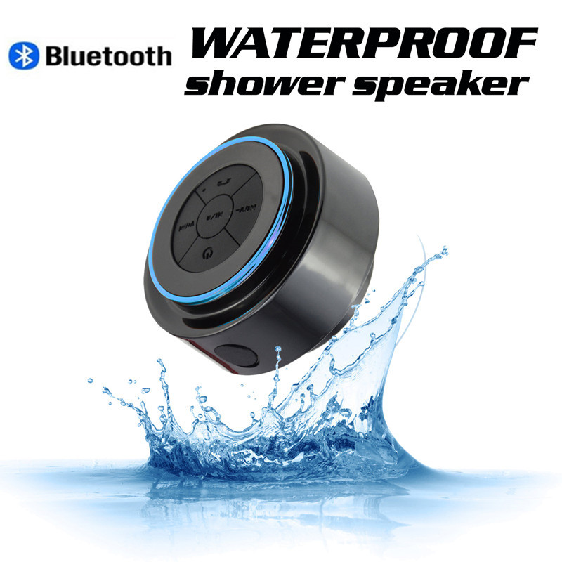 Bluetooth speaker bathroom radio mini waterproof wireless - Waterproof sound system for bathroom ...