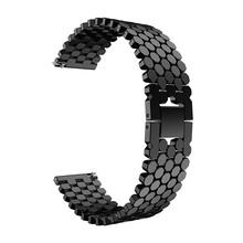 stainless steel strap for samsung S3 frontier galaxy watch 46mm huawei gt band huami amazfit 1/2 bracelet metal belt