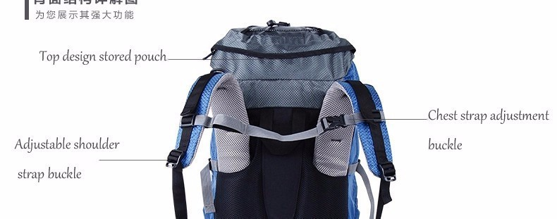 2new Free Shipping Professional Waterproof Rucksack Internal Frame Climbing Camping Hiking Backpack Mountaineering Bag 60L f13