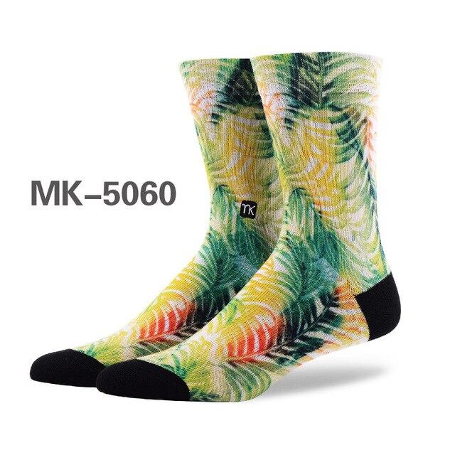 High-quality New men's fashion graffiti art socks color printing sprouting happy socks creative