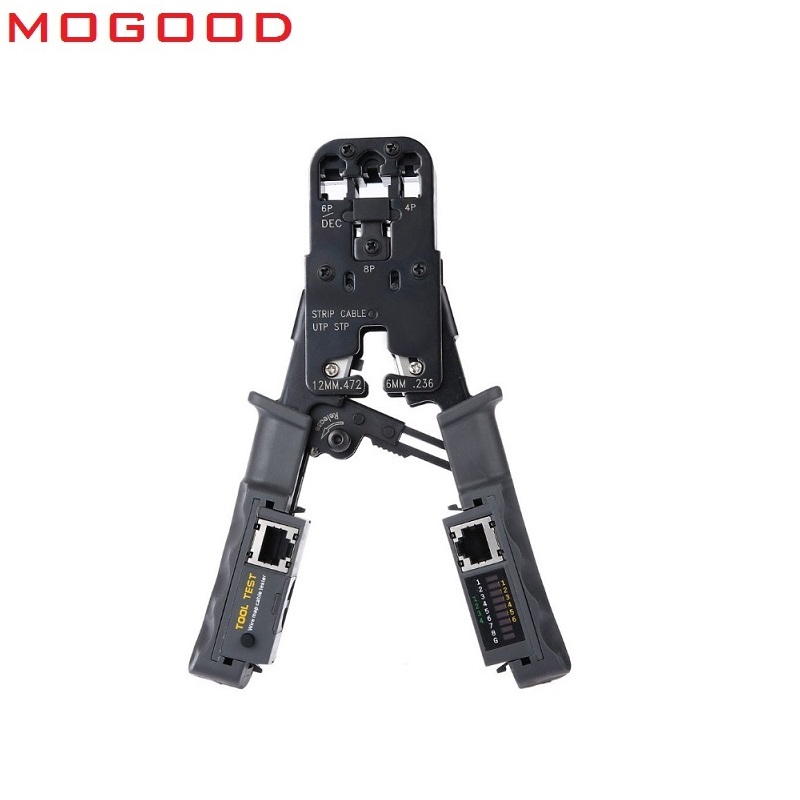 MoGood Multi-Wired Cable-in Networking Tools 2 In 1 Network Cable Crimping Pliers Test Crimping RJ45/RJ11/RJ9 For 4P/6P/8P