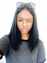 High Quality Natural black Short Bob Wig Synthetic Lace Front Wigs Bob Wigs For Black Women