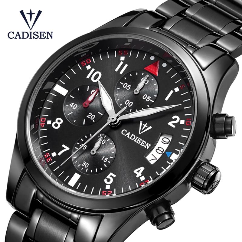 Cadisen Watch férfi divat sport kvarc órák Top Brand Luxus teljes - Férfi órák