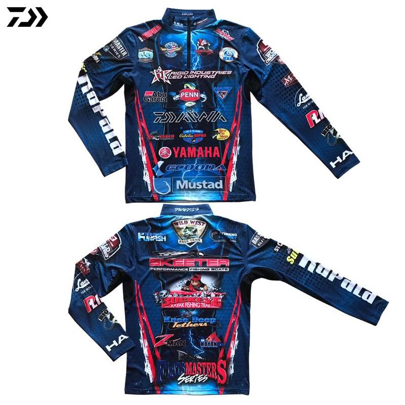 DAIWA DAWA 2019 Angeln Kleidung Sommer Mantel Langarm Kalt Sensation Sonnencreme Anti-Uv Schnell Trocknend Atmungs Angeln Shirts