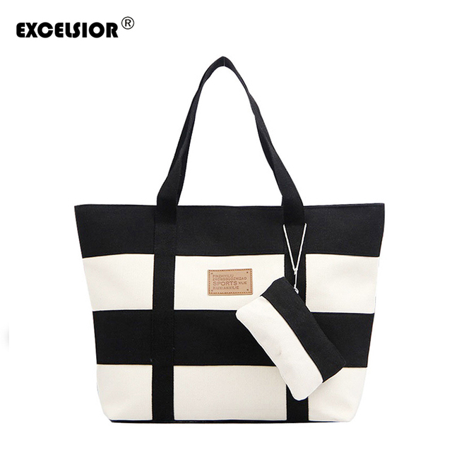 Women Canvas Handbag Zipper Shopping Bag Girl's Tote Hand Bag Ladies Casual Purse Foldable Canvas Crossbody Bags