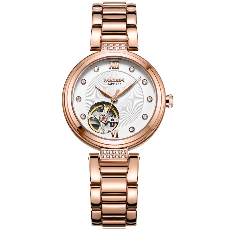 MEGIR Women Watches Luxury Brand ladies Automatic Mechanical Watch Women Sapphire Waterproof relogio femininoMEGIR Women Watches Luxury Brand ladies Automatic Mechanical Watch Women Sapphire Waterproof relogio feminino
