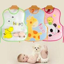 2 Pcs/Lot  Patterns Option Baby Kids Newborn infant EVA Cute Cartoon Pattern Waterproof Foldable Nursing Cloth Babe Bibs
