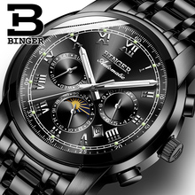 Switzerland Automatic Mechanical Watch Men Binger Luxury Brand Mens Watches Sapphire Wristwatches Waterproof relogio masculino 9