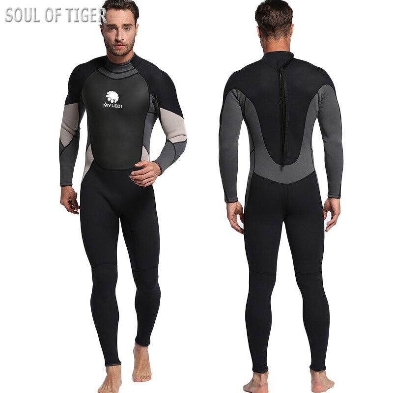 ФОТО New 2017 Nylon Neoprene 3 MM Wetsuit For Swimming Men Traje De Buceo Beach Tight Man Snorkel Suit Maillot De Bain Free Shipping