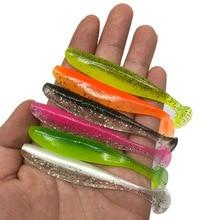6 יח\חבילה Wobbler דיג פתיונות 7cm / 9cm קל מנקה Swimbait סיליקון רך פיתיון כפול צבע מלאכותי קרפיון רך פיתיון