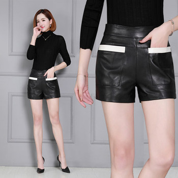 2019 New Fashion Women Genuine Sheep Leather Shorts KS28