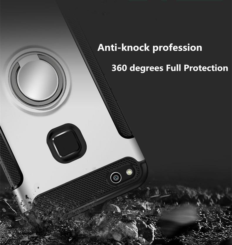 Olaf Untuk Huawei P10 Lite kasus Robot Armor Cincin Kickstand Karet - Aksesori dan suku cadang ponsel - Foto 2