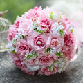 2017 Cheap Wedding/Bridesmaid Bouquets New Colorful Amazing Bridal Handmade Artificial Rose Bouquet de mariage ramo de la boda