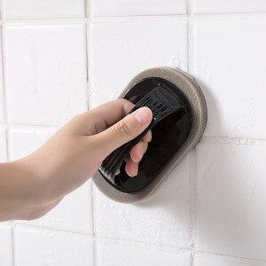 Image 4 - Escova de limpeza Com Alça Cozinha Descontaminação Mágica Esponja Limpa Tigela Pote Escova de Limpeza Limpador de Janelas Do Banheiro Acessórios