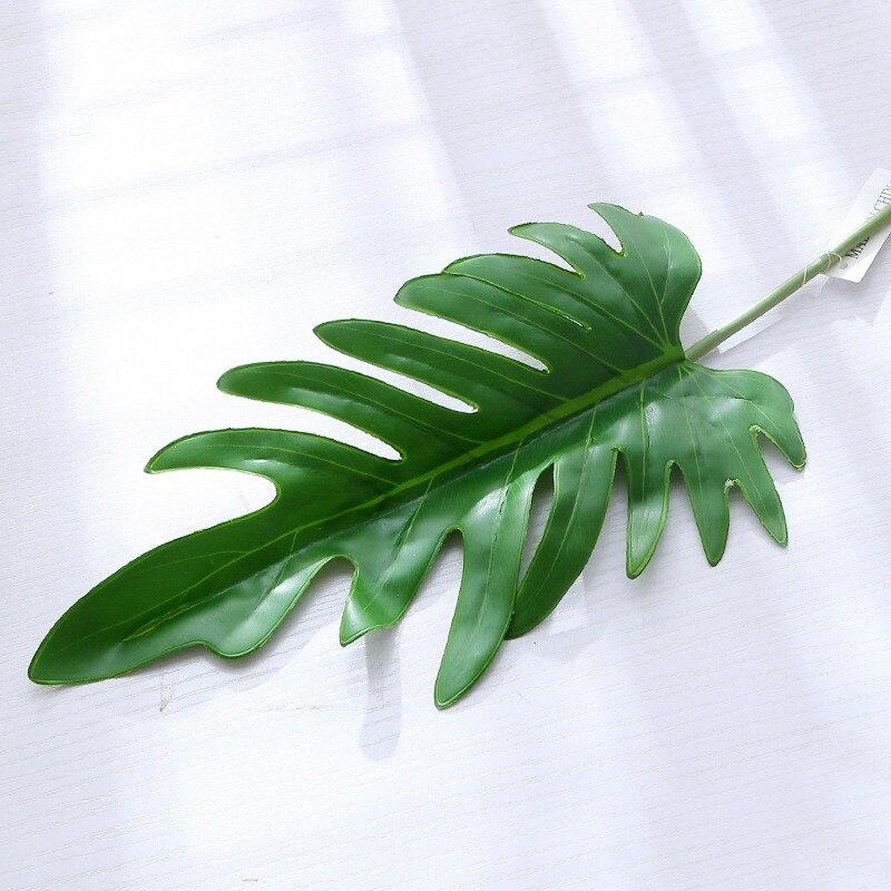 3Pcs Artificial Leaf Tropical Leaves Simulation Leaf Theme Party Decor Home Garden Artificial Flower decor Accessories