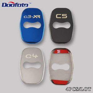 Image 2 - Doofoto Car Styling Auto Door Lock Cover Case For Citroen Picasso C4L C3 XR C3 C5 DS5 Badge Stickers Accessories Car Styling