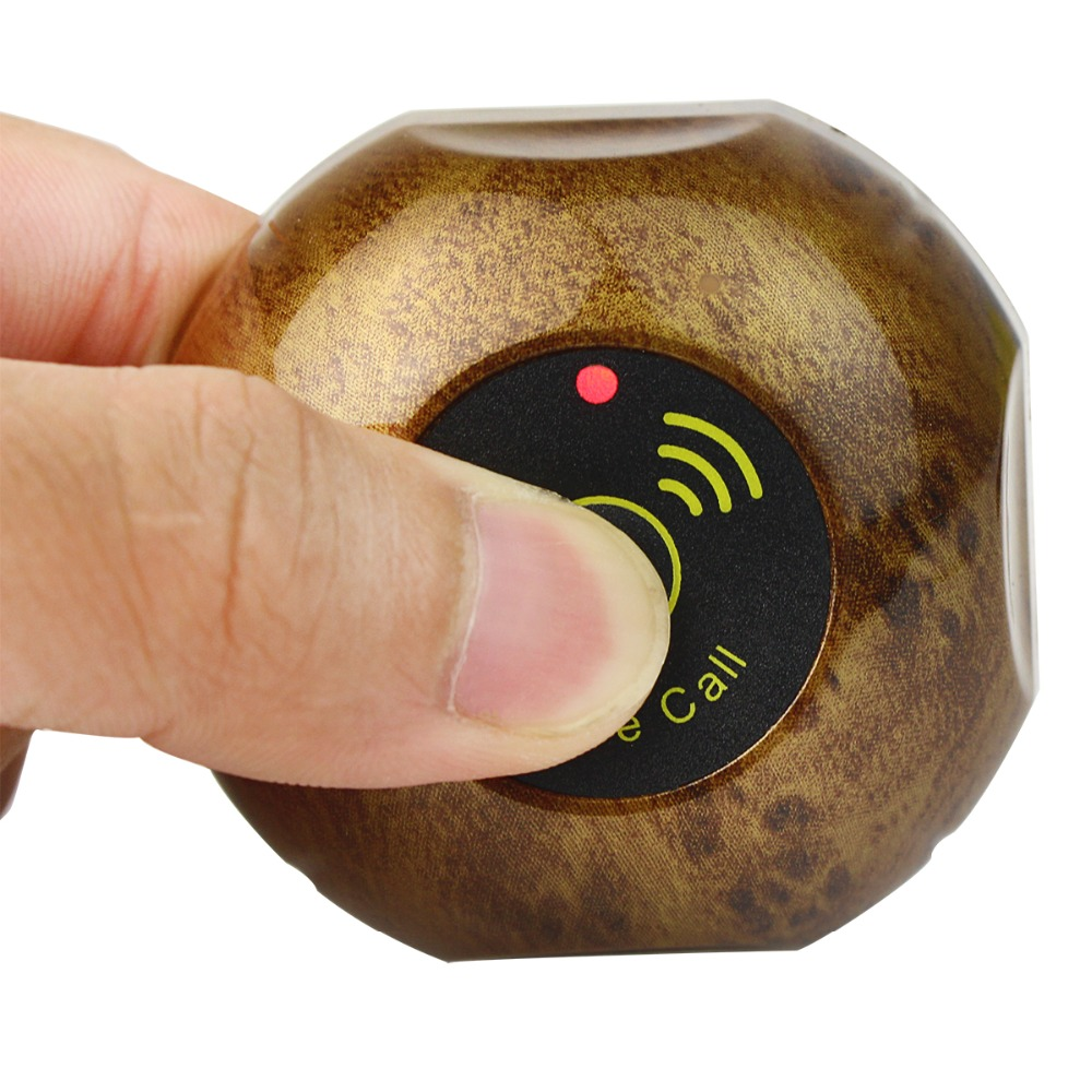 433.92MHz Restaurant Waiter Pager Wireless Calling System Call Transmitter Button Pager Waterproof F3227F